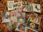 Set of 16 LARGE Vintage/Prim look Halloween labels/ vintage postcard images #1