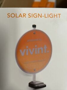 Solar Light to illuminate Security Yard Signs - Vivint Brinks ADT New Light Only