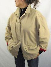 Eddie Bauer VTG 50-60s Tan Cotton Jacket Hunting Ranch Barn  Women's M  NYZ10