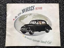 1949 Morris Minor MM Lowlight Original UK Sales Brochure
