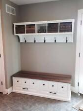 Shoe Bench and Coat Rack Unit , Hallway , Mudroom , Entryway Furniture Bench Set