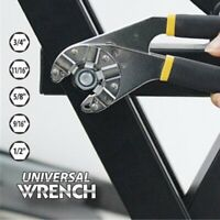 8Inch MultiFunction Universal Wrench Adjustable Vintage Hexagon Wrench t