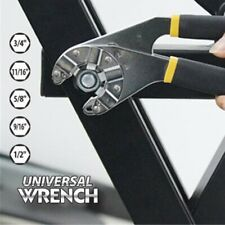 8 Inch Universal Multi-Function Wrench Adjustable Vintage Hexagon Wrench Spanner