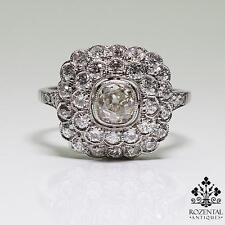 Antique Art Deco Platinum 0.70ctw Diamond Ring