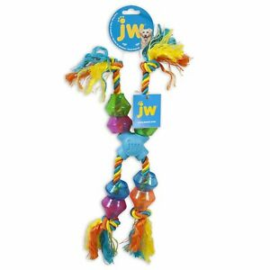 JW Durable X-Pod Rope Toy With Treat Pods for Large Dogs