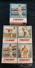 Rare! 1950's Champ Prophylactics Ted Williams Condom Box SET!