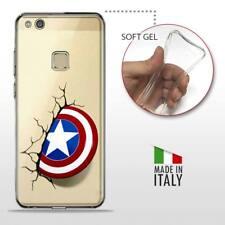 Huawei P10 Lite CASE COVER GEL PROTETTIVA TRASPARENTE DC MARVEL Captain America
