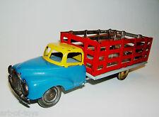 Tintoy Blechspielzeug, Lkw mit vergitterter Ladefläche, 20cm, 1950er Jahre.