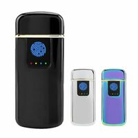 USB Electric Dual Flameless Lighter Torch Rechargeable Windproof Christmas Hot