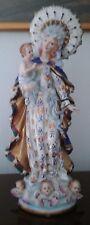 Louis Philippe porcelain Virgin Mary Madonna Statue 35 cm