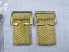 WW2 p37 replacement waist belt rear tabs & buckles 1 pair =2