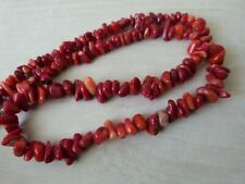 REAL 100 % NATURAL CORAL NECKLACE CHOKER RED DYED XMAS PRESENT GRADUATED