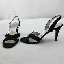 Indeed Heels Daisy Womens Shoes Sandals Footwear Size 9.5 Black Slingback Strap