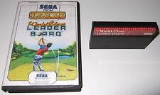 Sega Master System - WORLD CLASS LEADER BOARD - boxed, golf