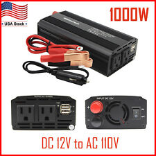 1000W/2000W Car Power Inverter DC 12V To AC 110V Charger Converter with USB Port