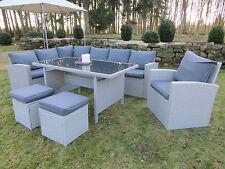 Polyrattan Lounge Set Milos-XL Sitzgruppe Gartenmöbel Garnitur Gruppe hoch Eck