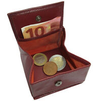 Leder Geldbörse CENT Bordeaux mit Wiener Schachtel Etui Abend Geldbeutel Münzbox