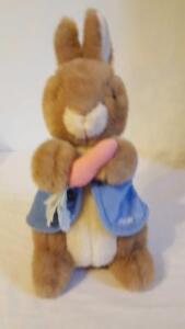 "14"" Beatrix Potter Peter Rabbit Eden Plush Stuffed Vintage High Quality"