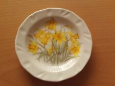 Reflections Collector Plate Daffodil Design Hand Decorated in Wales with Stand.