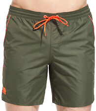 Boxer da mare SUNDEK da uomo verde militare in nylon con elastico