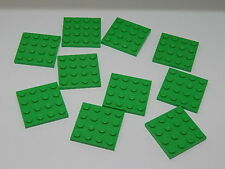 Lego Lot of 10 Bright Green 4 x 4  Plates
