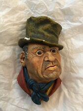 Vintage Bossons Bill Sikes Chalkware Head-Charles Dickens Series