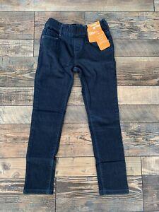 NWT Gymboree Dark Wash Blue Denim Jeggings Pants Girls Pull On Waist Size 7