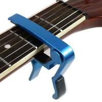 1X Blue Quick Change Tune Clamp Key Trigger Capo For Acoustic Electric Guitar GA