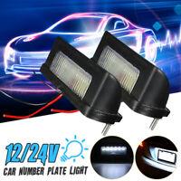 2X 12V / 24V 6 LED Number Licence Plate Light Rear Tail Lamp Truck Trailer Lorry
