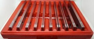 """20pce Precision Milling Machine Parallel 1/2"""" to 1-5/8"""" by 1/8"""" (10 pairs) Set"""