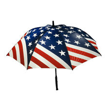 Bright Night Illuminated Umbrella New - Red White & Blue American Flag