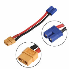 For RC Lipo Battery EC2 Male Banana Connector To XT60 Plug Female Wire Adapter