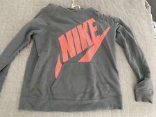 Nike Womens Grey  Hoodie Sweatshirt Size L