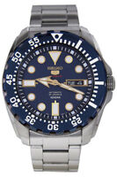 Seiko 5 Sports Reloj Hombre Automático Día + Fecha Fondo de Cristal Stahlarmband