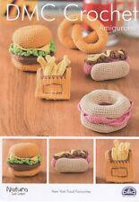 DMC 15313L/2 New York Food Favourites Crochet Pattern - Burger, Fries, Bagel