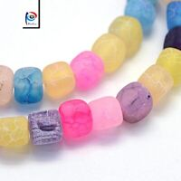 Natürliche Achat Perlen Würfel Matte Bunt 8mm Edelsteine Achatsteine Best G162