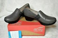 Dansko Clogs Jessica Nappa Women's Gray Sz 38 Leather Comfort Shoes Worn Once