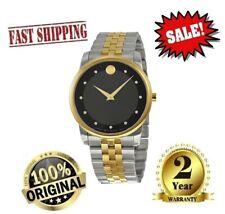 ✅ Movado Museum Classic Two-Tone Diamond Men's Watch 0606879