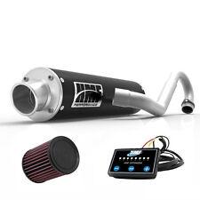 HMF Performance Full System Exhaust Pipe Black + EFI Optimizer + K&N DS 450