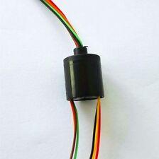 12.5mm 300Rpm 6 Wires 2A Mini Capsule Slip Ring AC240V for Monitor Robotic 6U
