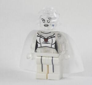 Custom minifigures Diamond Emma Frost Marvel on lego brand bricks