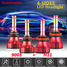 4-Sides H11 9005 LED Headlight Kit 6000K Hi/lo Beam for 2007-2009 TOYOTA CAMRY