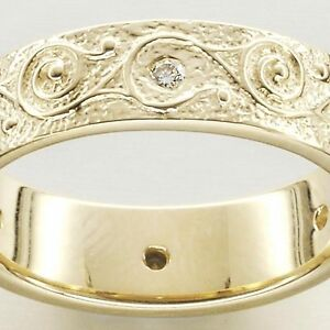 Ola Gorie 9ct Yellow Gold Rysa Diamond Eternity Ring Scottish Boxed Scottish