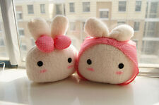 2pcs Cute Lovely Plush Lovers Rabbit Car Auto Headrest Head Pillow Seat Neck