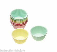 Kitchen Craft Juego de 12 mini silicona forma redonda 3.5cm cupcake tarta FUNDAS