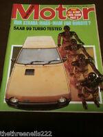 MOTOR MAGAZINE - SAAB 99 TURBO TESTED - MAY 3 1980