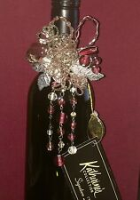 Fifi Pink Purple Glass Beads Wine Jewelry Bottle Top Gift Katherines Collection