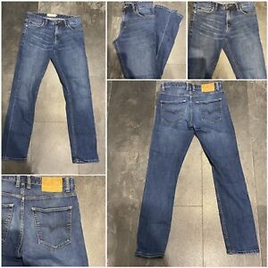 "Men's next blue jeans slim fit zip fly w 30"" R  L 30"" cotton mix used (97)"