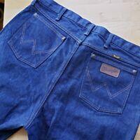 VTG Wrangler 80s 90s Jeans 40 X 38 Denim Made in USA Indigo Blue Workwear EUC