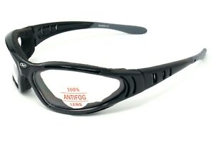 New Clear wraparound motorcycle glasses/Foam padded sunglasses + pouch & postage